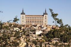Panorámico de Toledo, con el cielo azul La Mancha de Castilla españa Foto de archivo libre de regalías