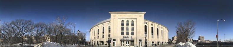 Panorámico de Yankee Stadium en el Bronx Fotografía de archivo libre de regalías