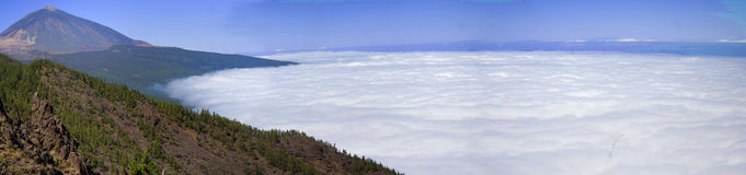 Panorámico del volcán del teide Imagen de archivo libre de regalías