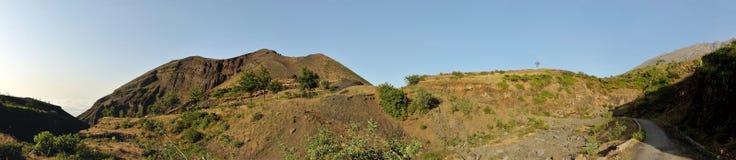 Panorámico del volcán en Monte Preto Imágenes de archivo libres de regalías