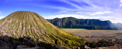 Panorâmico bonito do vulcão Fotos de Stock Royalty Free