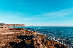 Panorâmico da costa marítima imagens de stock royalty free