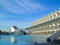 Panorâmico das construções na cidade das artes da ciência Foto de Stock Royalty Free
