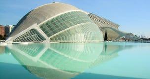 Panorâmico das construções na cidade das artes da ciência Foto de Stock