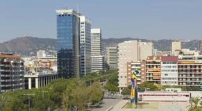 Panorâmico de Barcelona imagem de stock