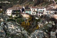 Panorâmico de Sepulveda Província de Segovia, Espanha fotos de stock royalty free