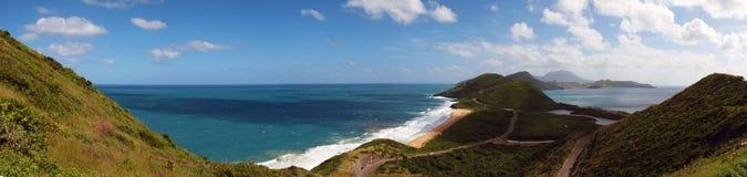 Panorâmico de St. Kitts fotografia de stock