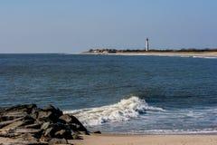 Panorâmico do farol de Cape May Fotos de Stock
