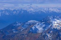Panorâmico dos cumes do suíço do paraíso da geleira de matterhorn Fotos de Stock