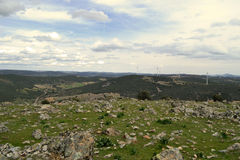 Panorâmico nas montanhas de Toledo fotografia de stock