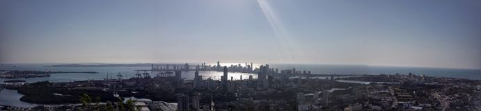 Panorà ¡ glimmer Cartagena de Indias, Colombia Royaltyfri Bild