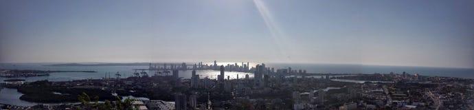 PanorÃ-¡ Glimmer Cartagena de Indias, Kolumbien Lizenzfreies Stockbild