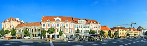Panora van de Vilniusstad Stock Foto