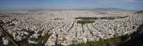 Panoram Афиныы, Греции Стоковое Изображение