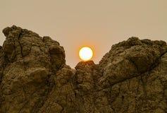 Panoram badlands park narodowy, Południowy Dakota, usa zdjęcia royalty free