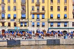 Panoram da cidade de Éstocolmo, Suécia imagens de stock