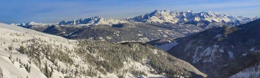 Panoram Dachstein стоковые фотографии rf