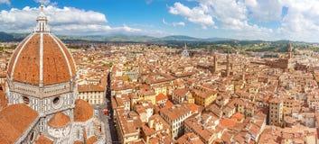 Panoram de Florence de cathédrale Santa Maria del Fiore, Italie Photographie stock libre de droits
