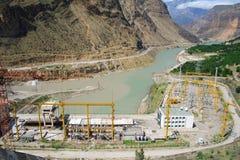 Panoram de la central hidroeléctrica  Imagen de archivo