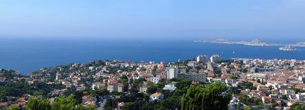 Panoram de Marsella Imágenes de archivo libres de regalías