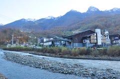 Panoram de Rosa Khutor Alpine Resort fotos de stock