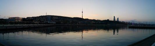 Panoram di Bacu Fotografie Stock Libere da Diritti