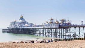 Panoram di vista della città di Eastbourne, Regno Unito Fotografie Stock Libere da Diritti