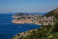 Panoram Dubrovnick Kroatien lizenzfreies stockbild