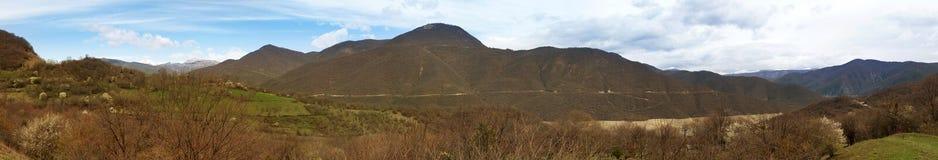 Panoram góry Gruzja zdjęcie stock