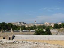 Panoram mit Kathedrale Lizenzfreie Stockbilder