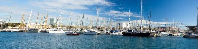 Panoram łodzie Fotografia Royalty Free