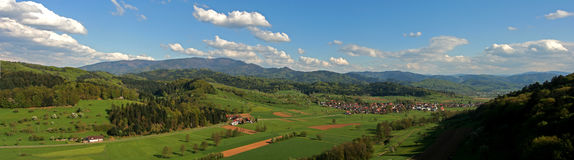 Panoram photo. Panorama , germany, black forrest, blue sky Royalty Free Stock Image