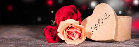 Panoram valentines dzień Zdjęcia Stock