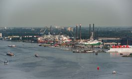 Panoram view on the Amsterdam, Netherlands. Shot taken from the A`dam lookout tower Stock Photography