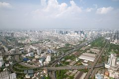 Panoram view on the express railway from Bayok Sky hotel stock images