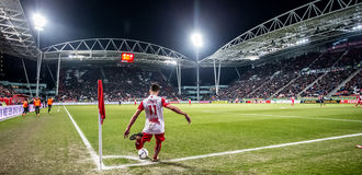 Panoramaöverblick av FC Utrechtstadion Galgenwaard Arkivbilder
