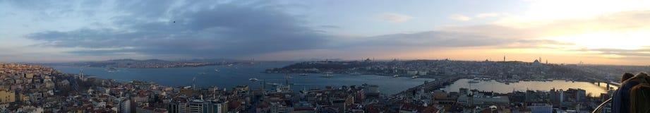 Panorama- Ä°stanbul Fotografering för Bildbyråer