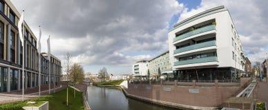 panorama élevé de définition de l'Allemagne de ville de kleve images libres de droits