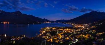 Panorama élevé de définition de Lago di Como (lac Como) Photographie stock