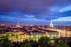 Panorama élevé de définition de Turin (Torino) Photo stock