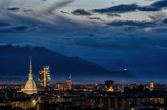 Panorama élevé de définition de Turin (Torino) Images libres de droits
