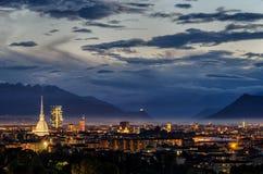 Panorama élevé de définition de Turin (Torino) Photo libre de droits
