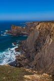 Panorama élevé de falaises Images stock