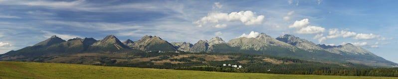 Panorama élevé de Tatras Image libre de droits