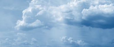 Panorama énorme de nuage Photographie stock
