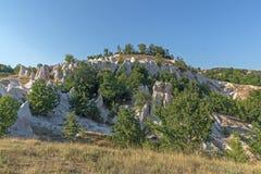 Panorama étonnant de pierre Weddingi, Bulgarie de phénomène de roche images stock