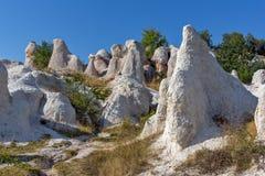 Panorama étonnant du mariage de pierre de phénomène de roche, Bulgarie photo libre de droits