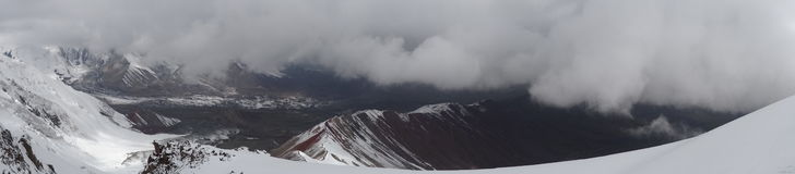 Panorama Ð ¡ louds en bergen Pamir Royalty-vrije Stock Fotografie
