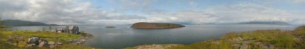 panorama Öar i den norr sjön Royaltyfria Bilder