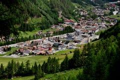 panorama- Österrike soelden för att visa Fotografering för Bildbyråer